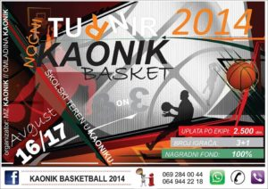 Турнир у баскету – Каоник 2014