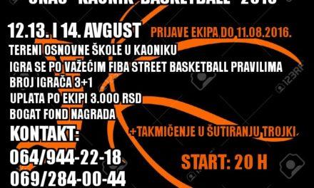 Ноћни турнир у баскету – Каоник 2016
